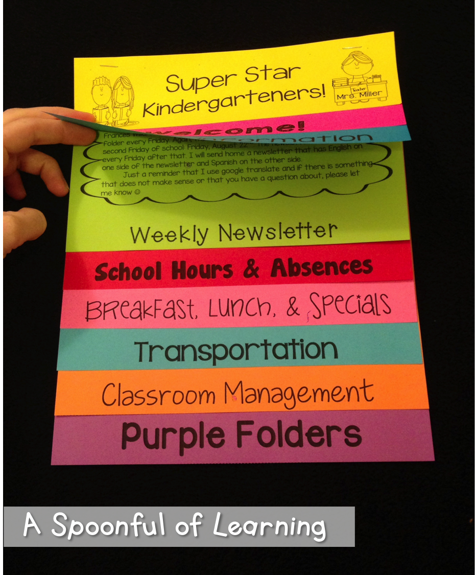A Spoonful of Learning: Meet the Teacher Night! & FREEBIES