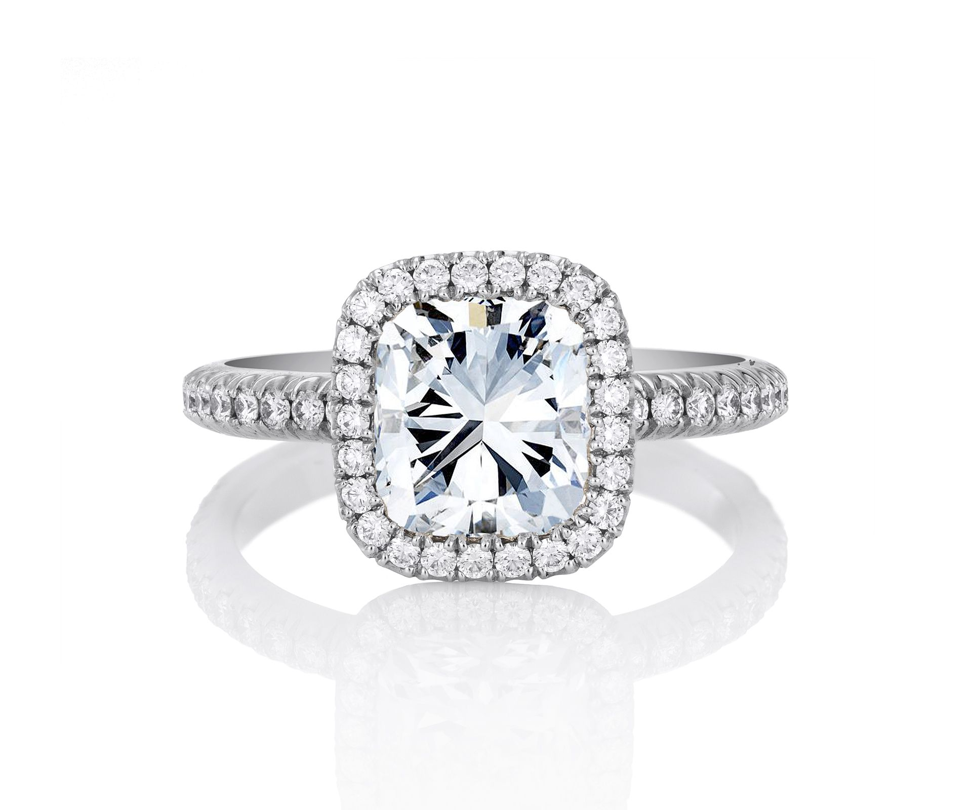 Cushion cut engagement rings the diamond cut that is taking