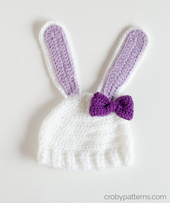 Croby Patterns | Crochet Pattern – Little Bunny Hat | Croby Patterns ...