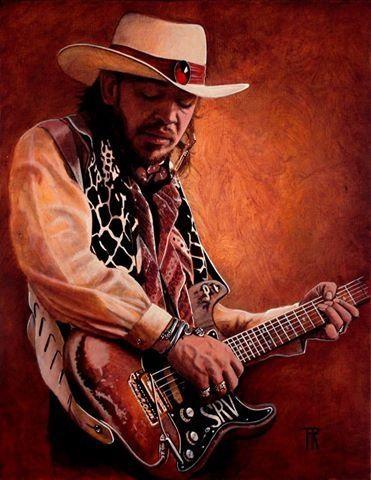 Stevie Ray Vaughan Art by Theo Reijnders