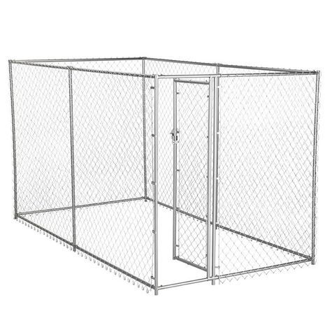Lucky Dog Chain Link Box Kennel 6x5x10 250 Chain Link Dog Kennel American Kennel Club Dog Playpen