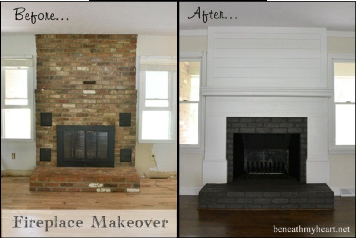 Living with a dated fireplace room