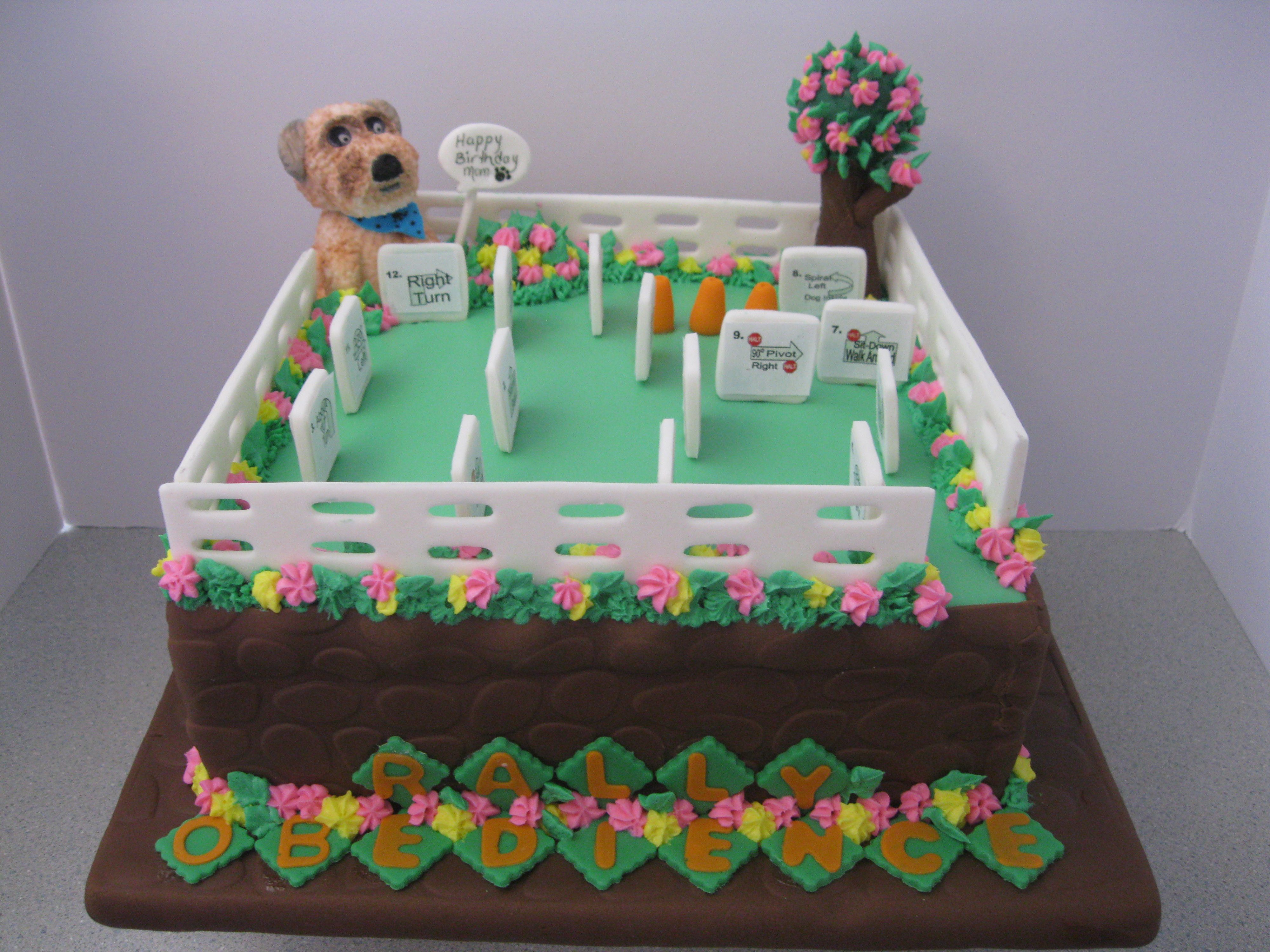 Chicken Birthday Cake For Dogs ~ Dog rally obedience birthday cake cakes that i have created