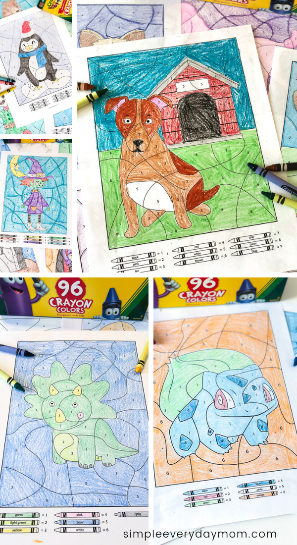 Color By Number Worksheets Kids Can't Wait To Do ...
