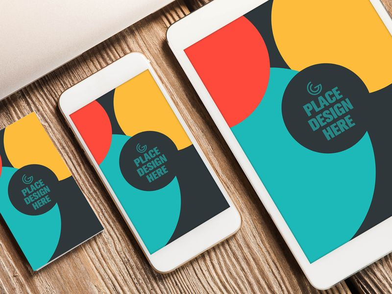 Business card smart phone and tablet mockup free
