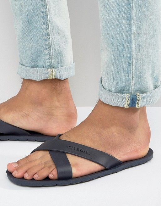 buy online 6c15d 13164 Buy Black Diesel Flip flops for men at best price. Compare Beachwear prices  from online stores like Asos - Wossel Global