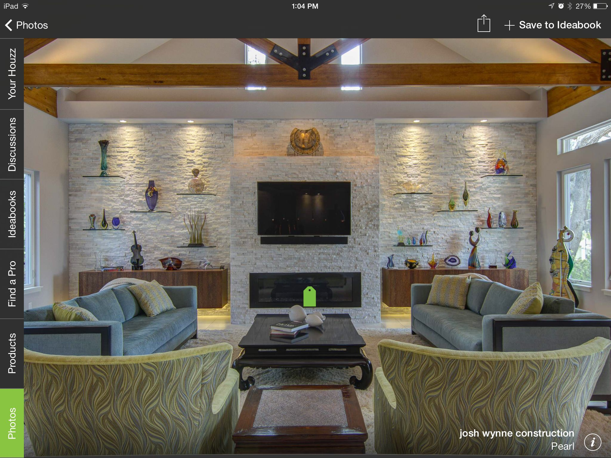 The backsplash and entertainment center would look amazing in our