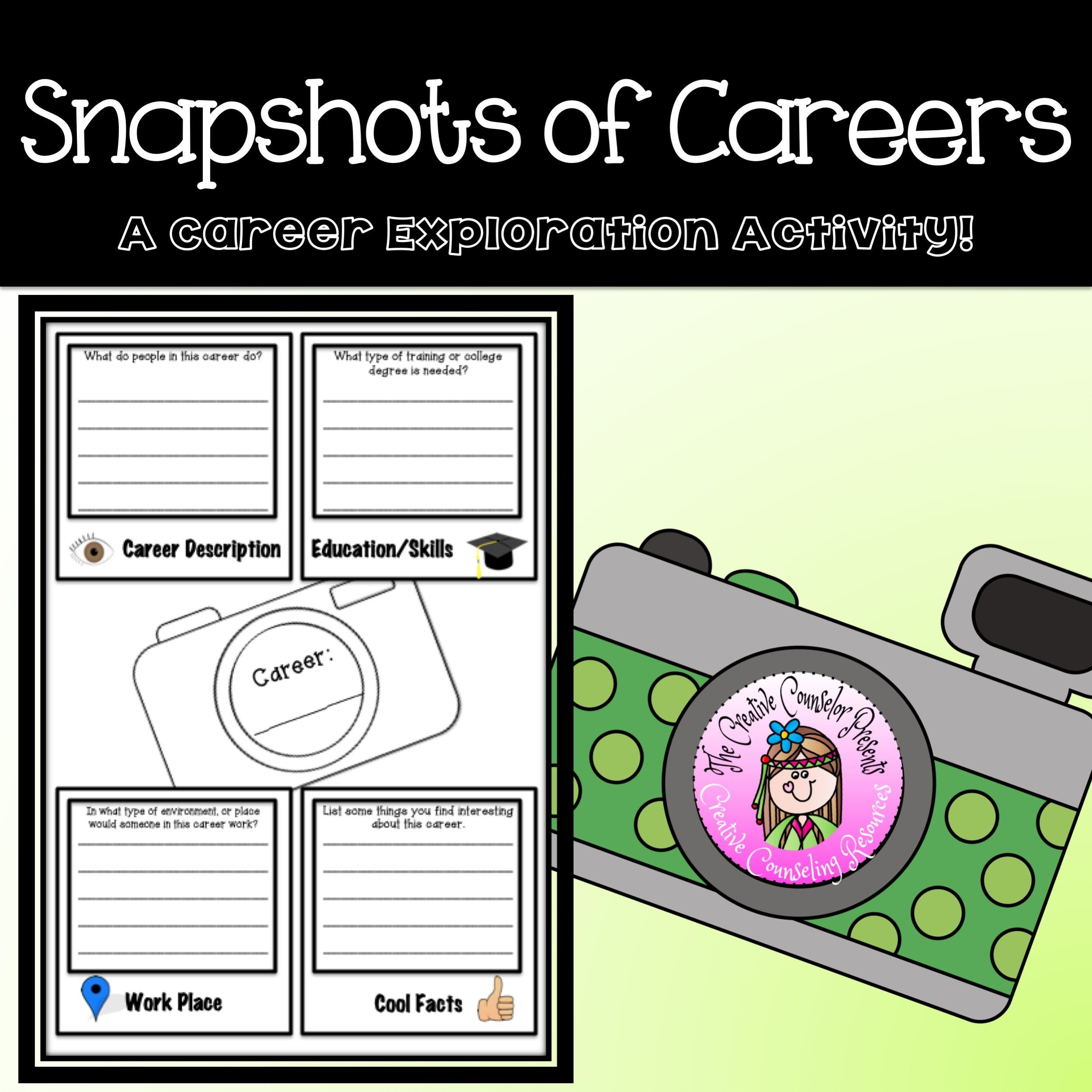 Snapshots Of Careers Interest Research Exploration