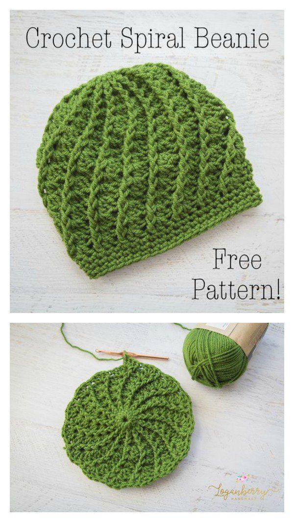 Slouchy Spiral Hat Free Crochet Pattern   Gorros, Tejido y Ganchillo