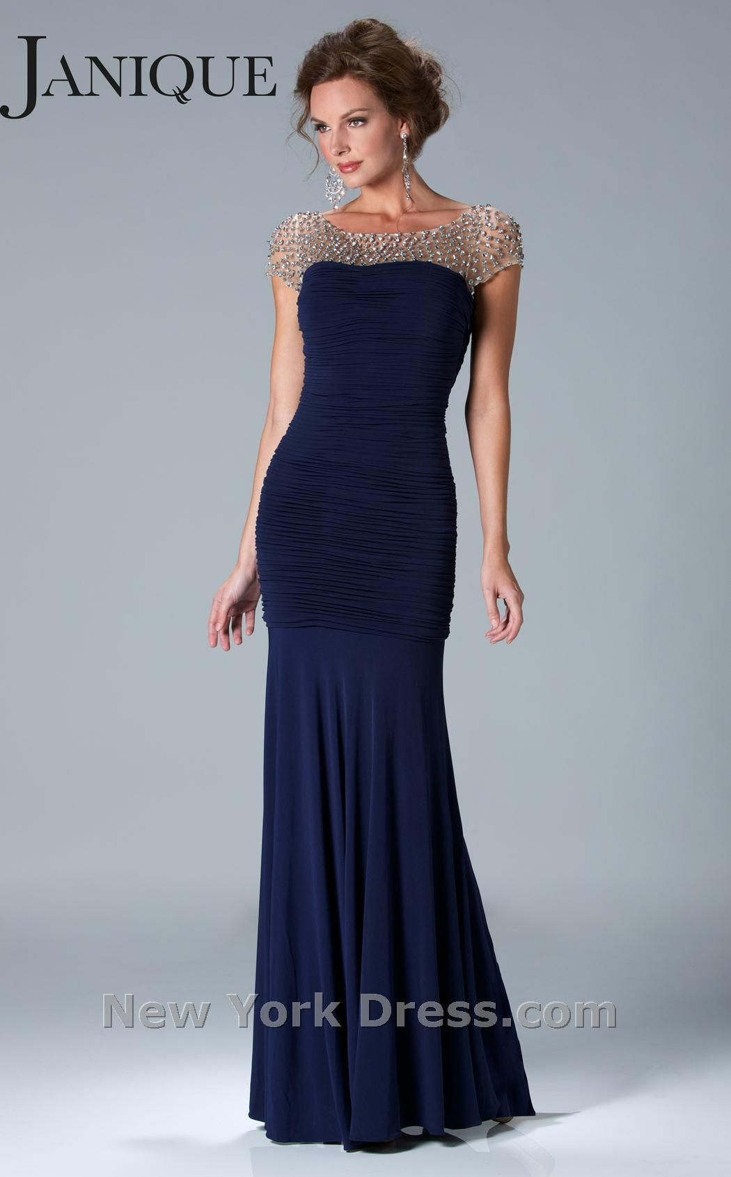 Janique Dress K6037 | Midnight blue, Sleeve and Gowns