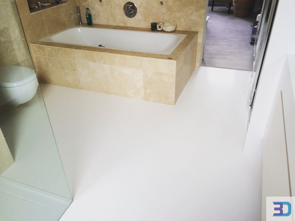 White Seamless Bathroom Flooring So Divine And Beautiful Resin