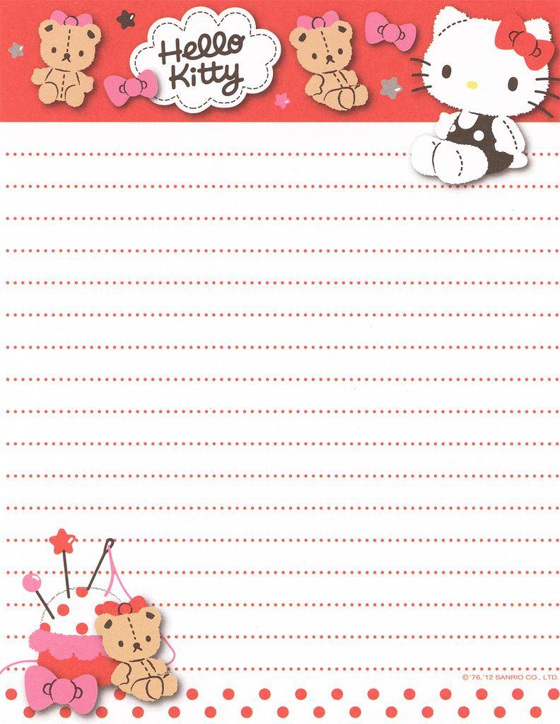 Papier à lettre ~ Hello kitty