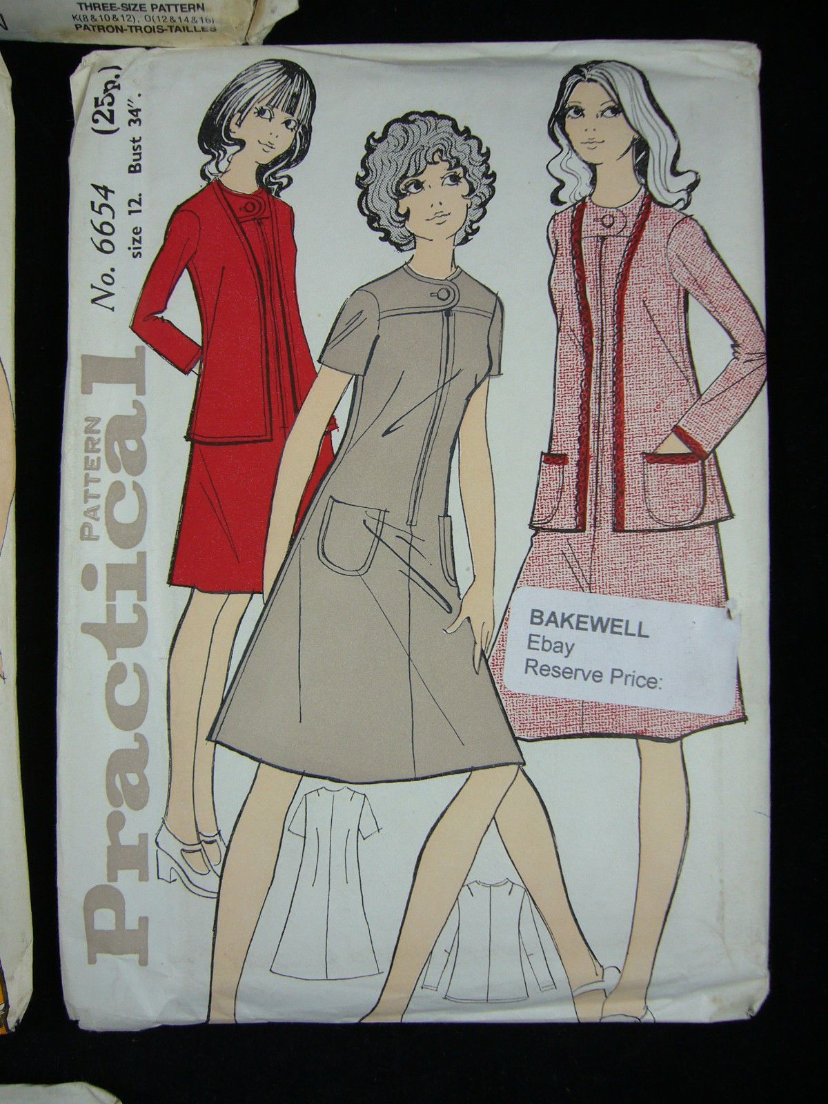 Selection of 6 1960's/70's vintage ladies dress patterns - size 12(Ref:BAKE16BS) | eBay