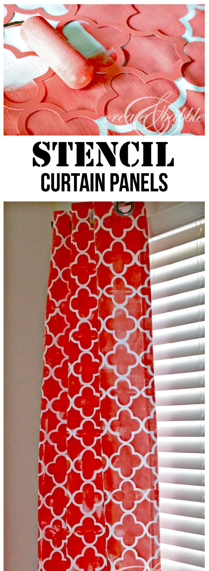 Make Your Own Stencil and Stenciled Curtains