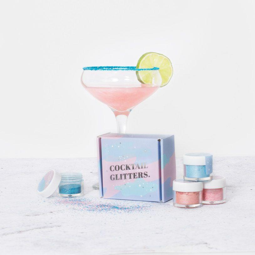 Glitter sparkle cocktail martini verre rose