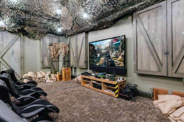 50 Gaming Man Cave Design Ideas For Men Manly Home Retreats Game Room Design Video Game Room Design Room Setup