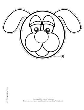 Dog Mask To Color Printable Free Download And Print