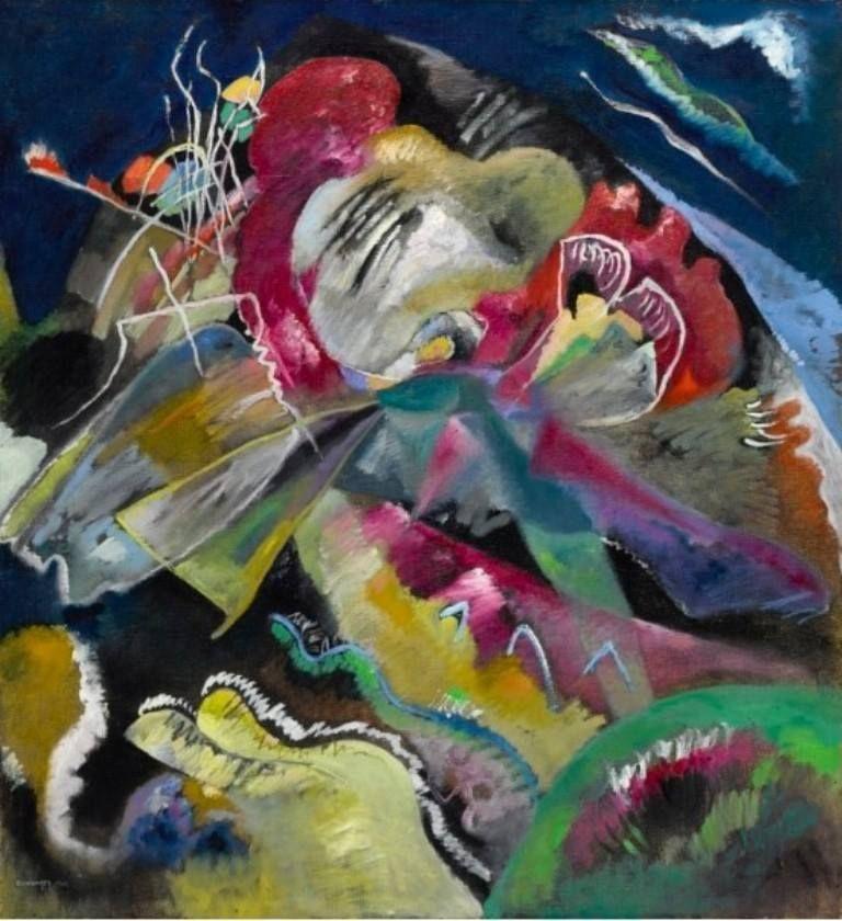 Vasilij Kandinskij - Painting with white lines, 1913.