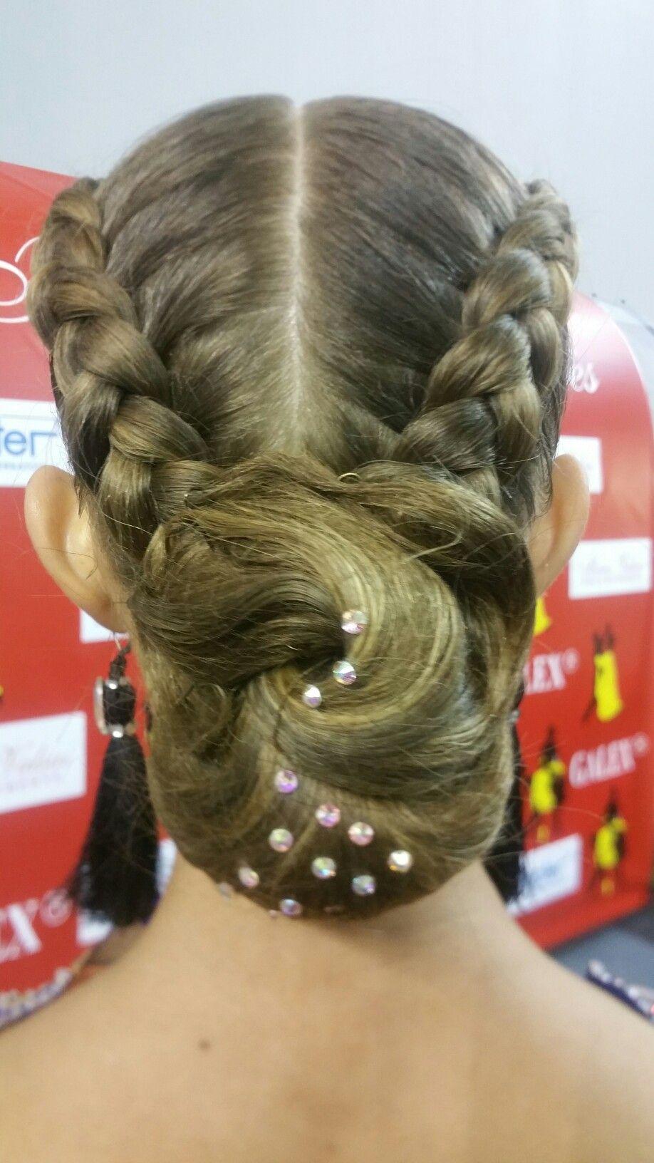 Pin By Violeta Petkevicienė On Ballroom Dance Hair Party Hairstyles Dance Hairstyles Easy Party Hairstyles