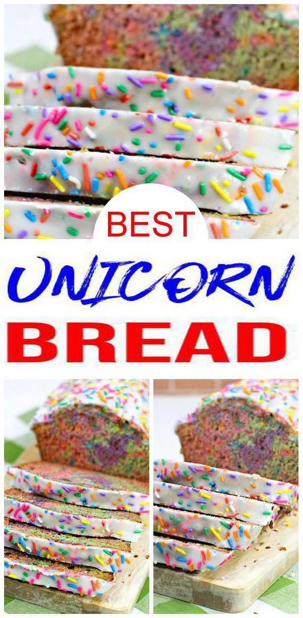 New Years Party Food! Looking for the BEST New Years party food? Fun & coolest DIY homemade New Years treats kids, teens, tweens, adults & children will love. Easy to make New Years Unicorn cake bread. Great food ideas - frosted unicorn cake - great for parties, classroom parties, slumber parties, unicorn parties & more. Check out New Years snacks, desserts & treats for yummy New Years food. #newyears #food #childrenpartyfoods