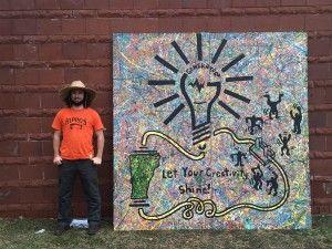 Stencil Over Splatter Paint Painting Mural Paint Splatter