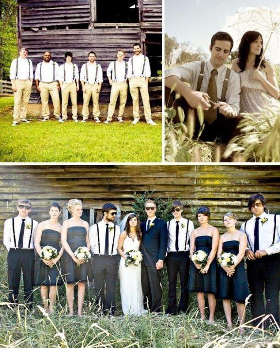 Modern Casual Groomsmen Wedding Attire | ... cool. Lovin\' the ...
