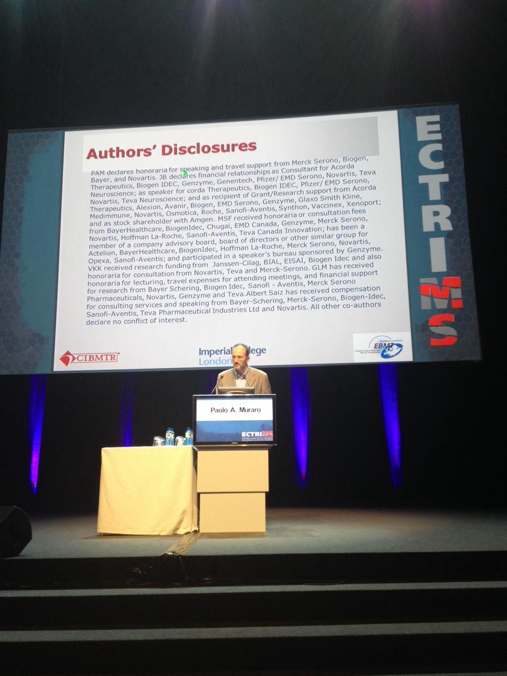 @MSNewsToday - Autologous hematopoietic cell transplantation may be effective in highly active forms of MS #ECTRIMS2015 #MSNewsToday