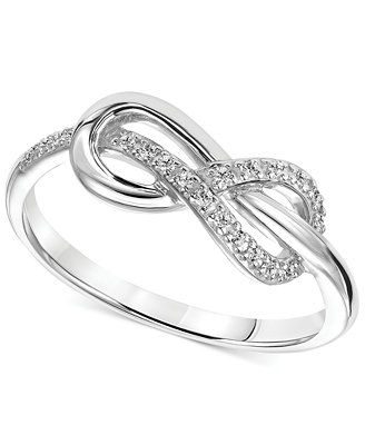 7dc56966b5eab Diamond Accent Infinity Knot Promise Ring in Sterling Silver ...