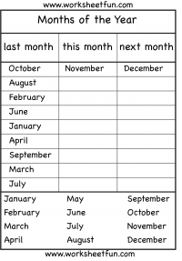 Months Of The Year 4 Worksheets Free Printable Worksheets English Lessons For Kids English Worksheets For Kids Seasons Worksheets