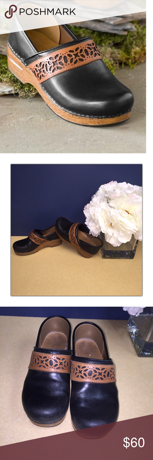 30992cdbd7 Dansko Pavan Clogs Super cute in great used condition no damages to the clog  or stitching