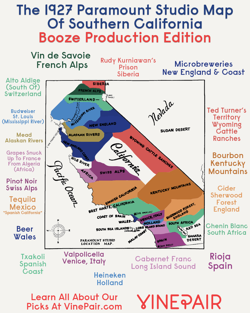 Booze Production Edition: The 1927 Paramount Map Of Southern ... on