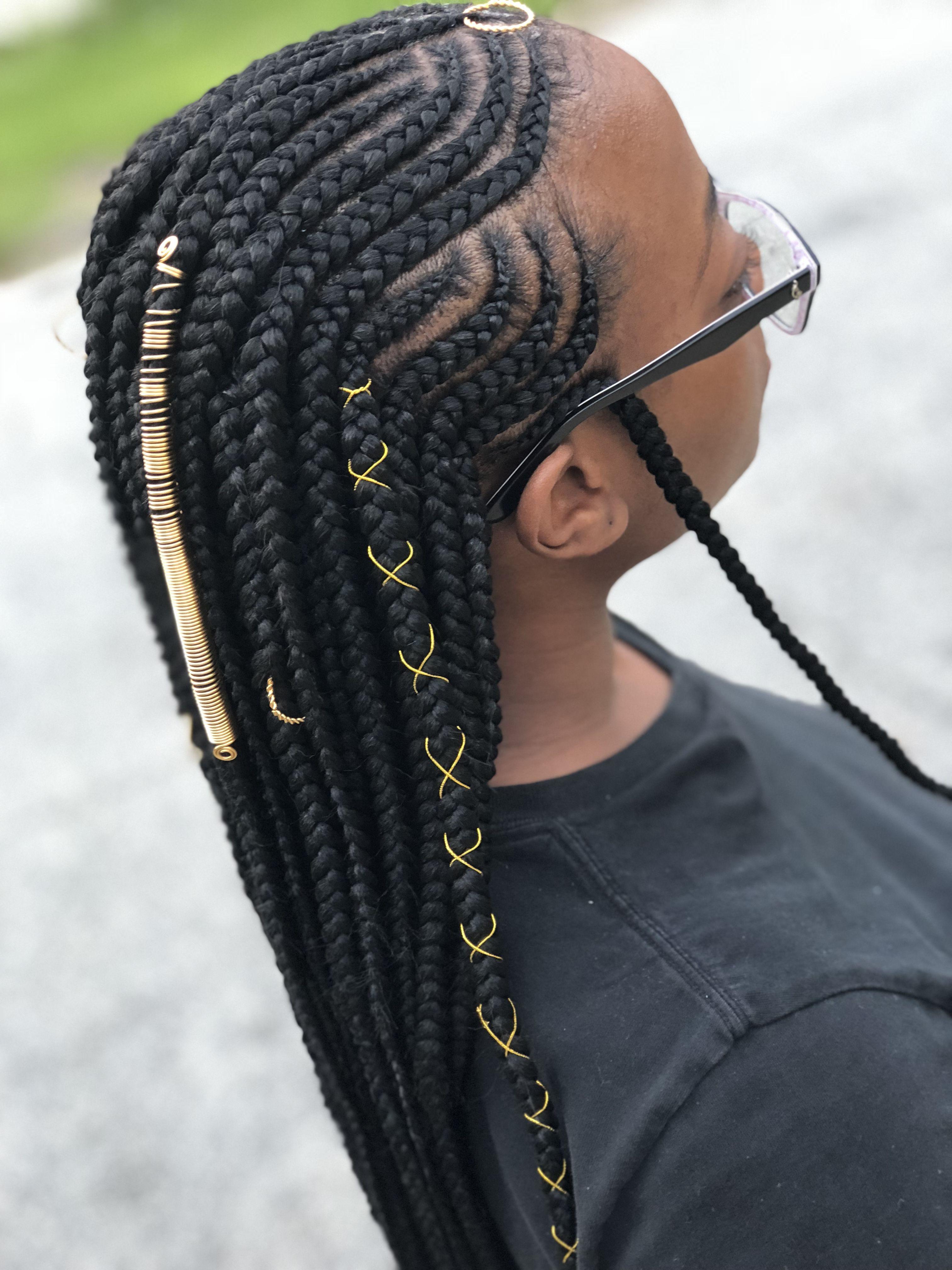 Tribal Braids Braidsbychyna Natural Hair Braids Braided
