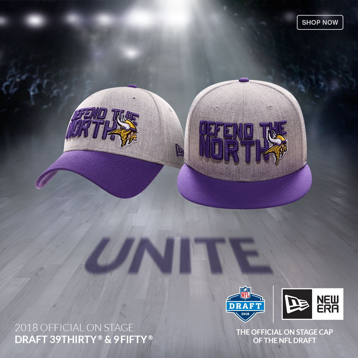 7b0f8a6b9d58a Get ready for the draft with the Minnesota Vikings New Era 2018 NFL Draft  Cap at Lids.