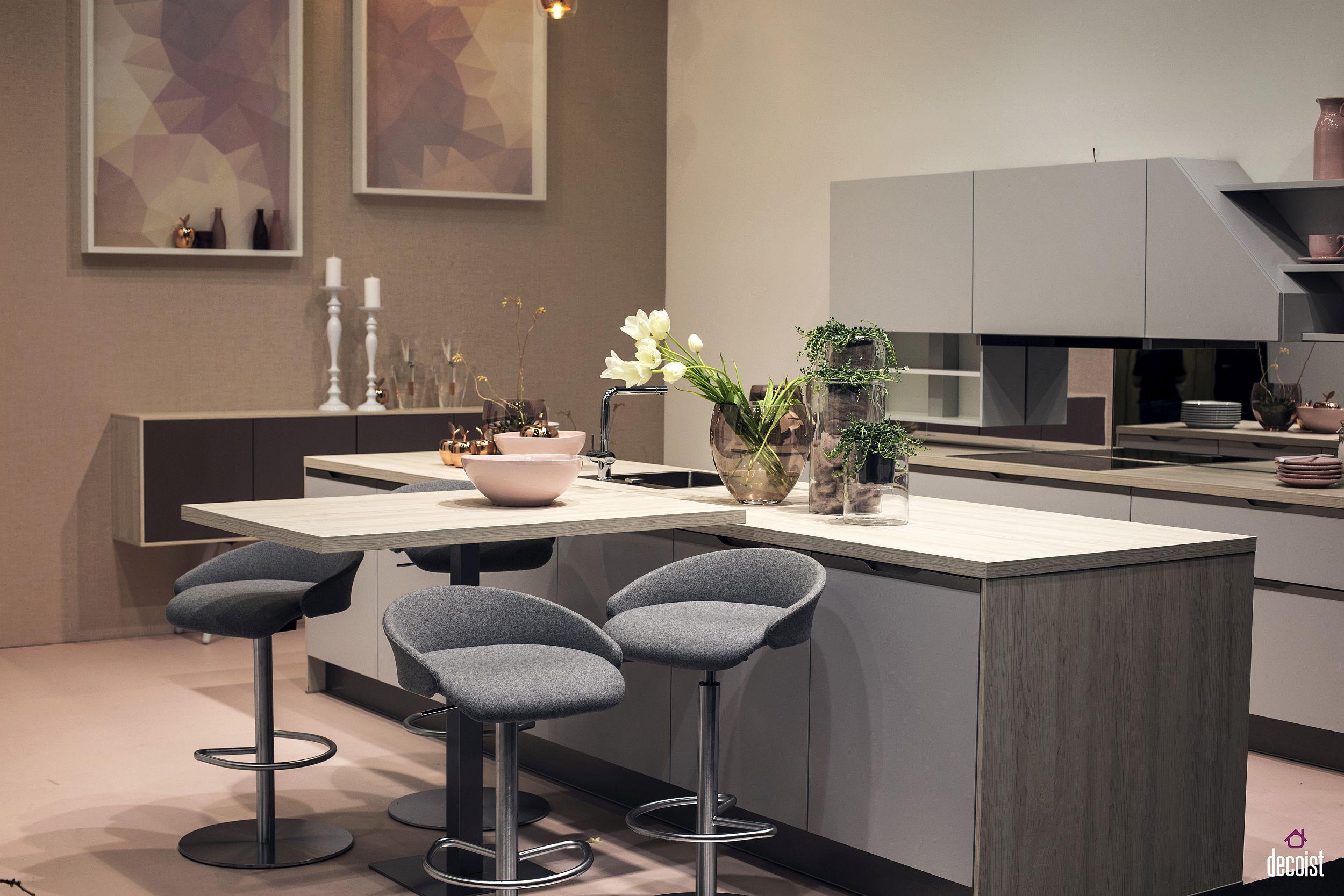 20 Ingenious Breakfast Bar Ideas For The Social Kitchen Kitchen Bar Table Kitchen Design Bar Table Design