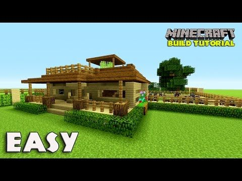 How To Make A Survival House In Minecraft Easy Farm House Tutorial Youtube Minecraft Houses Survival Minecraft House Tutorials Minecraft House Designs