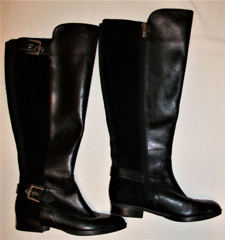 Marc Fisher Damsel Tall Black Leather