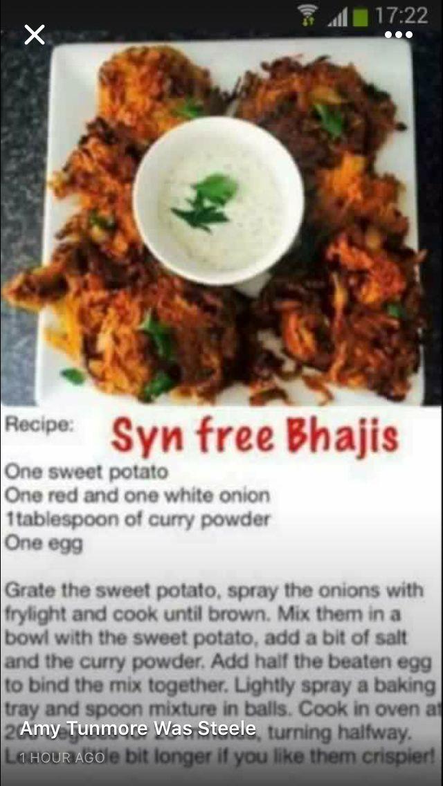 Syn Free Sweet Potato And Onion Bhajis Slimming World