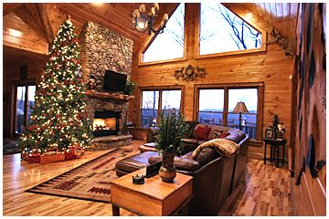 Christmas Cabin Rentals.Waterfall Lodge Cabin Five Bedroom Luxury Rental Cabin