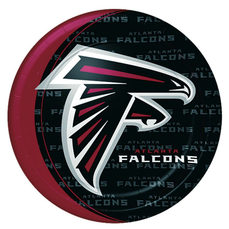 Atlanta Falcons Dinner Plates 8 Count Description Kick Off Your Party For The Falcons These Atlanta Falcons 9 Paper Dinner Plat Atlanta Falcons Football Party Supplies Falcons