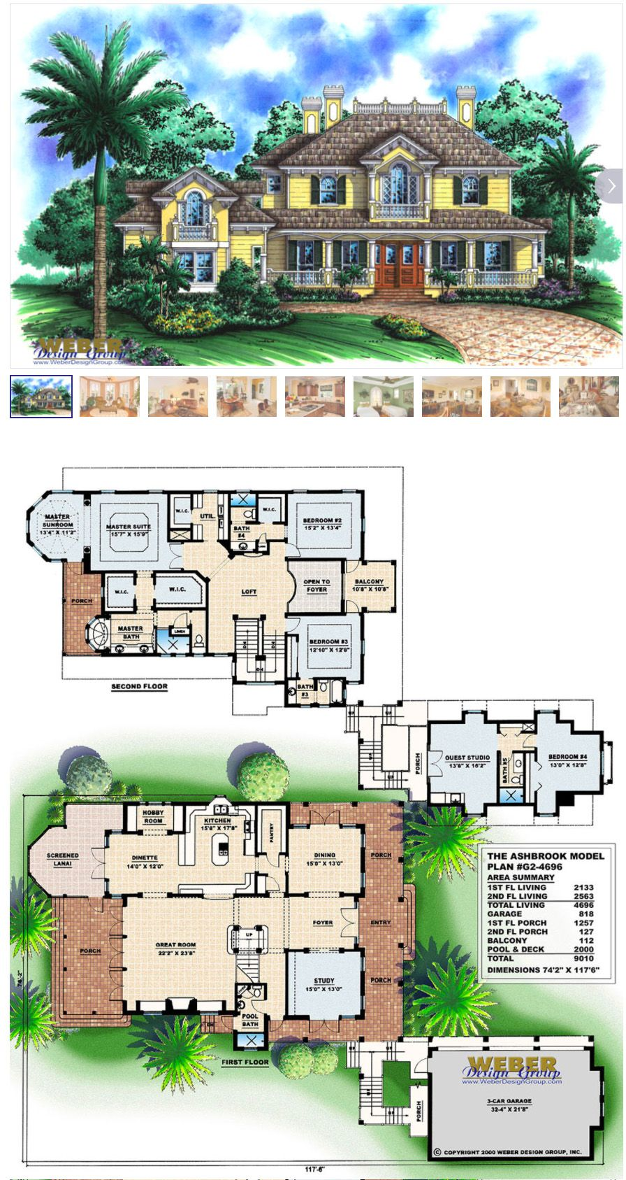 2 Story House Plan Charleston Style Waterfront Home Floor Plan Lake View House Plans Craftsman House Plans House Plans With Photos