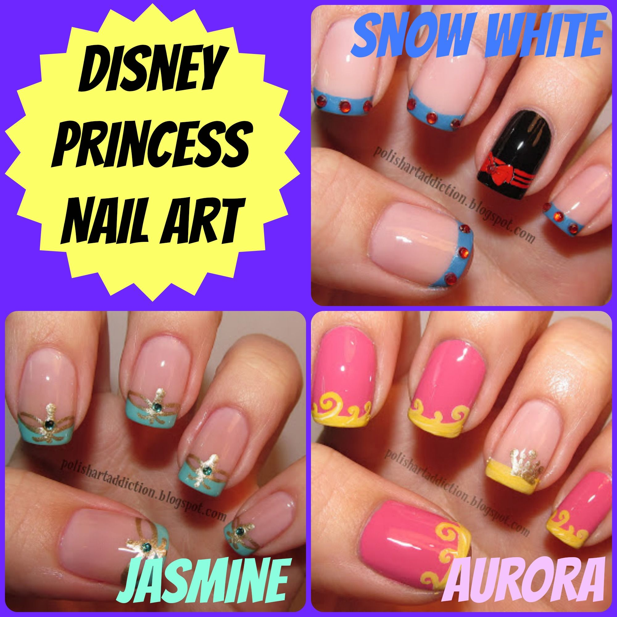Attractive Disney Themed Nail Art Vignette - Nail Art Ideas ...