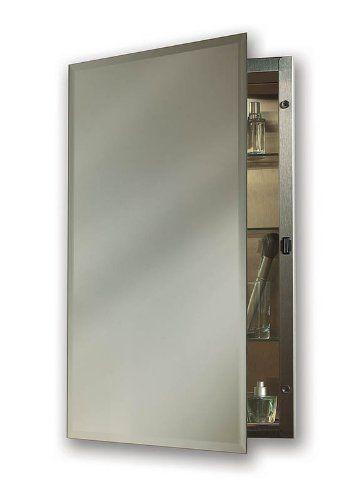 Nutone 1448 Galena Specialty Medicine Cabinet Stainless Steel Single Door Recessed Mount 1 Medicine Cabinet Mirror Beveled Mirror Recessed Medicine Cabinet