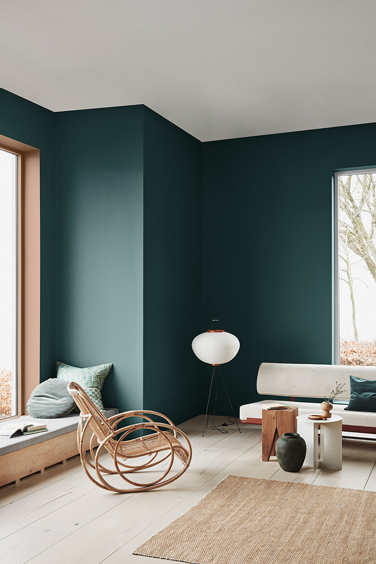 The Scandinavian Interior Colour Trends Of 2020 From Jotun Lady Colorful Interiors Scandinavian Interior Green Wall Color