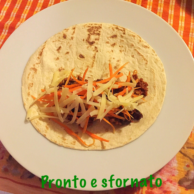 Tortillas con carne e fagioli (messicana)