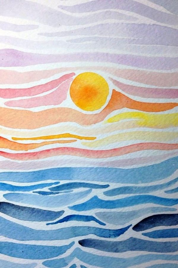 55 Very Easy Watercolor Painting Ideas For Beginners #watercolorart