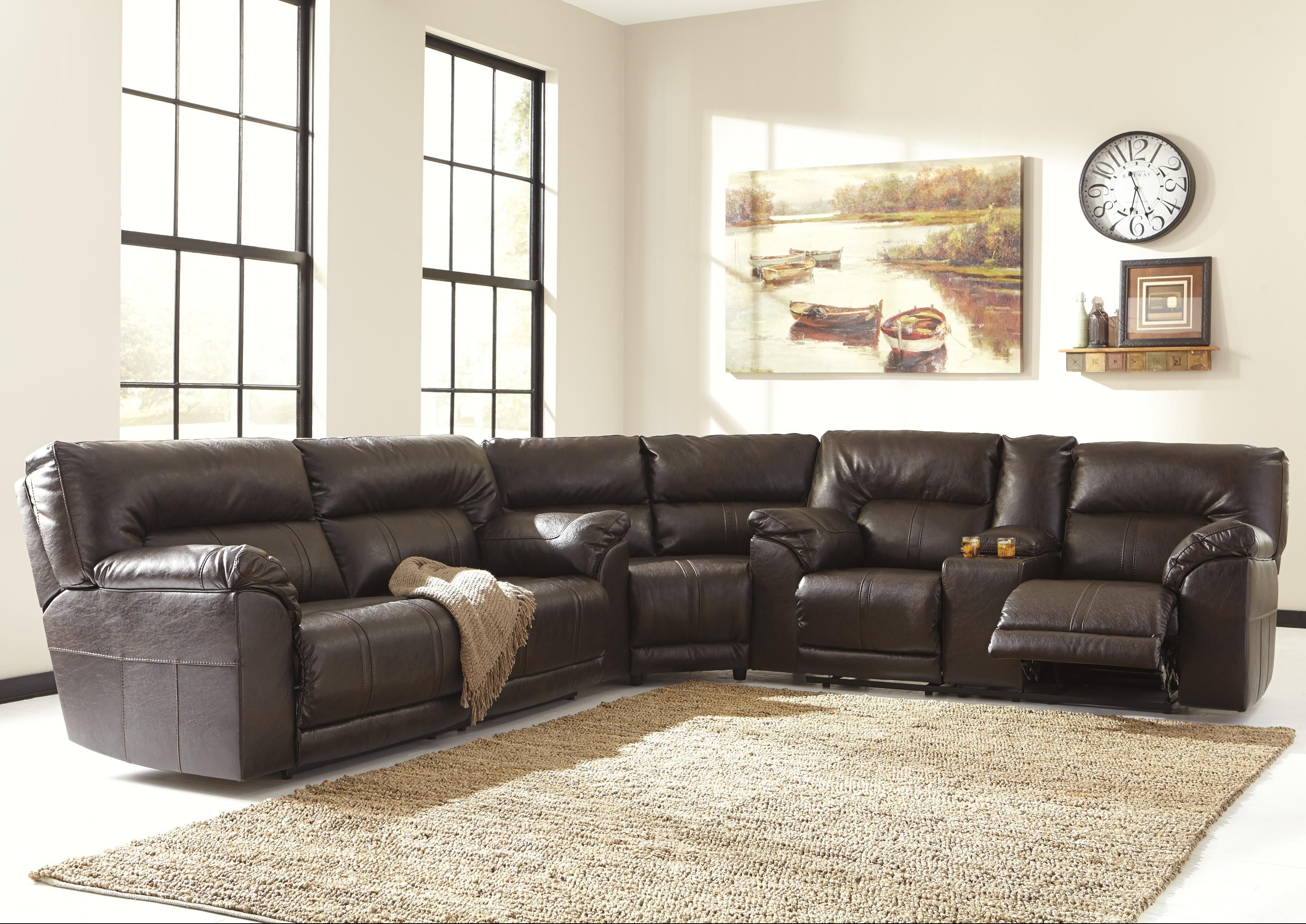 Barrettsville DuraBlend® 3-Piece Reclining Sectional by Benchcraft ...