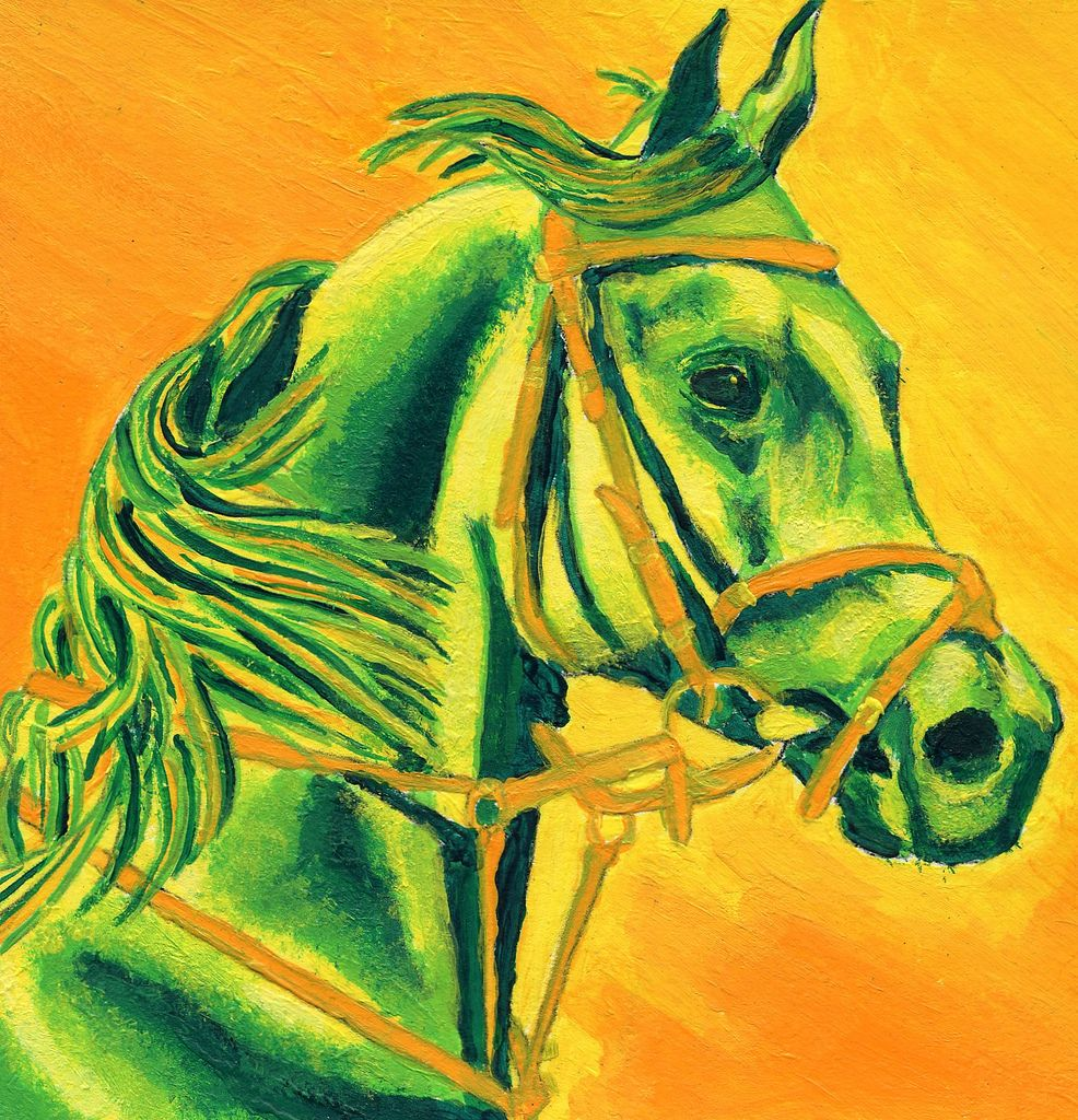 Analogous Color Monochromatic Paintings Artwork Painting Horse