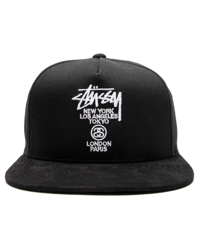 8bd17a8c277 Stussy - World Tour Snapback Cap (Black)