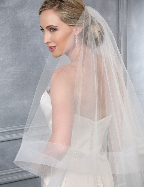 New Bridal Veil Wedding Veil Cathedral Veil Two Tier Veil with Horsehair Trim