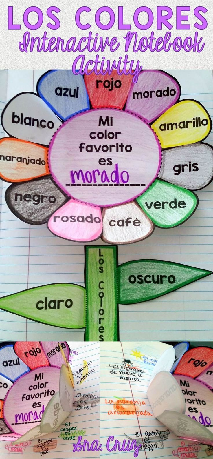 Spanish Interactive Notebook Activity: Los Colores | Spanish ...